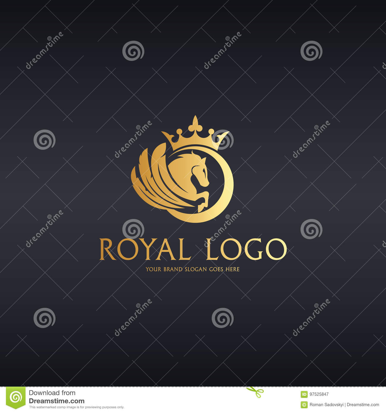 Royal Horse Logotype Stock Vector Illustration Of Protection 97525847