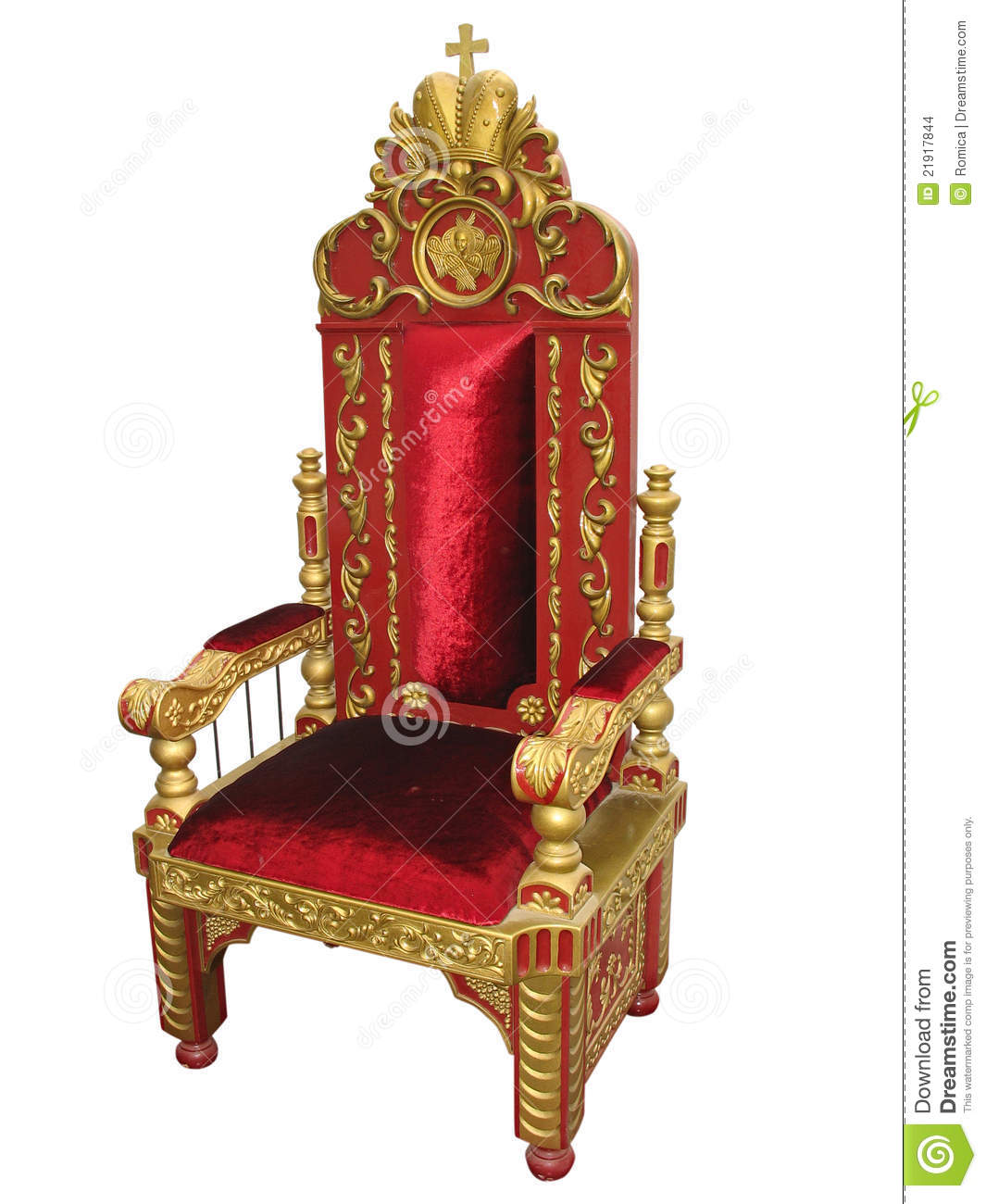 Royal King Red And Golden Throne Chair Isolated Stock Photo - Image: 21917844