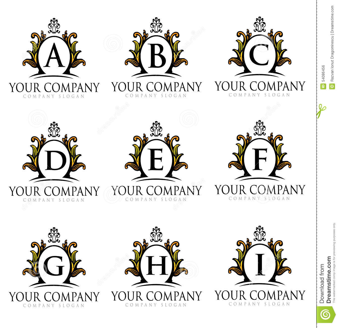 Royal Letters Logo Stock Vector Image 54086456
