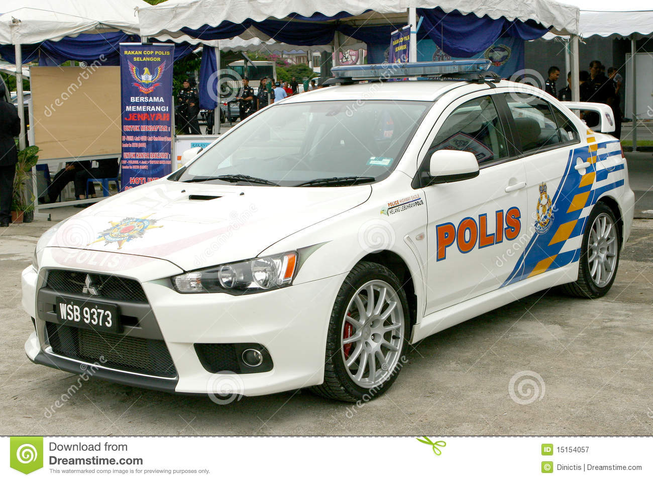 Royal Malaysian Police Mitsubishi Lancer Evolution Editorial Photography Image 15154057