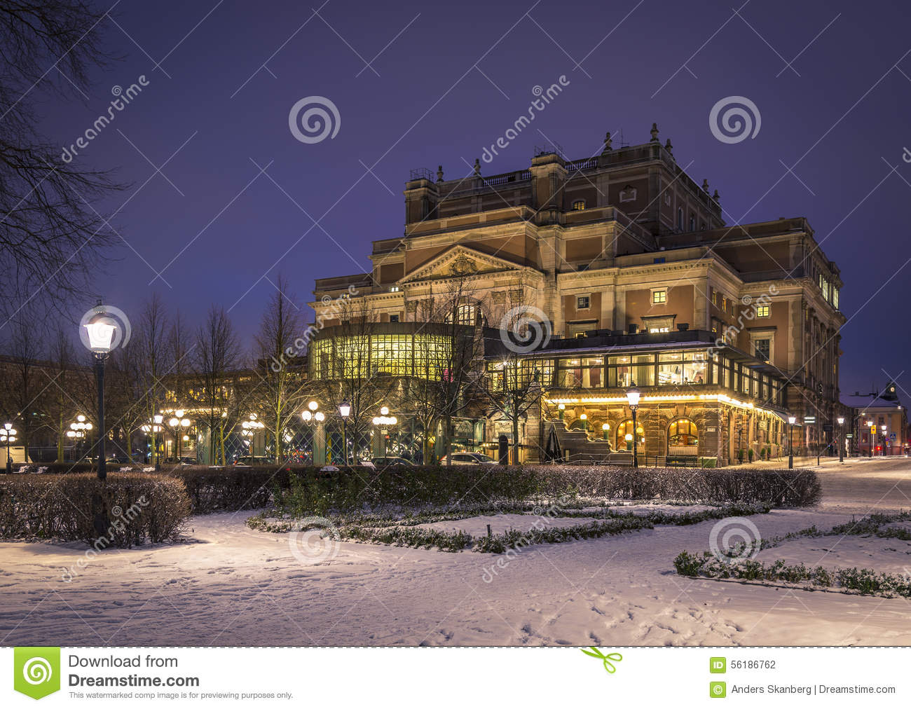 The Royal Opera House Stockholm Sweden Stock Photo