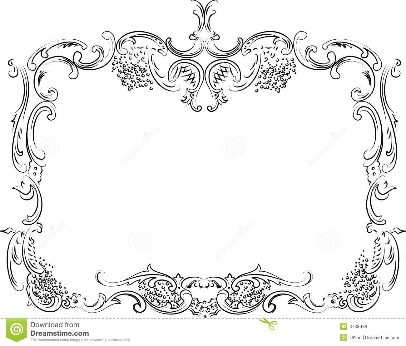 Royal ornate calligraphy frame stock vector illustration