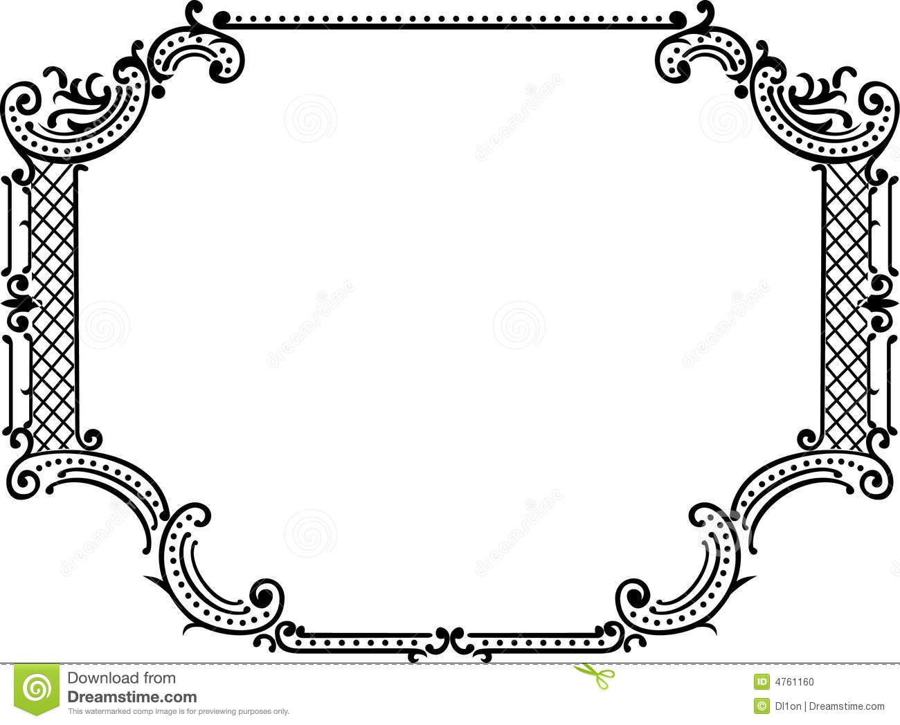 Royal Ornate One Color Frame Stock Vector Illustration Of Graphic