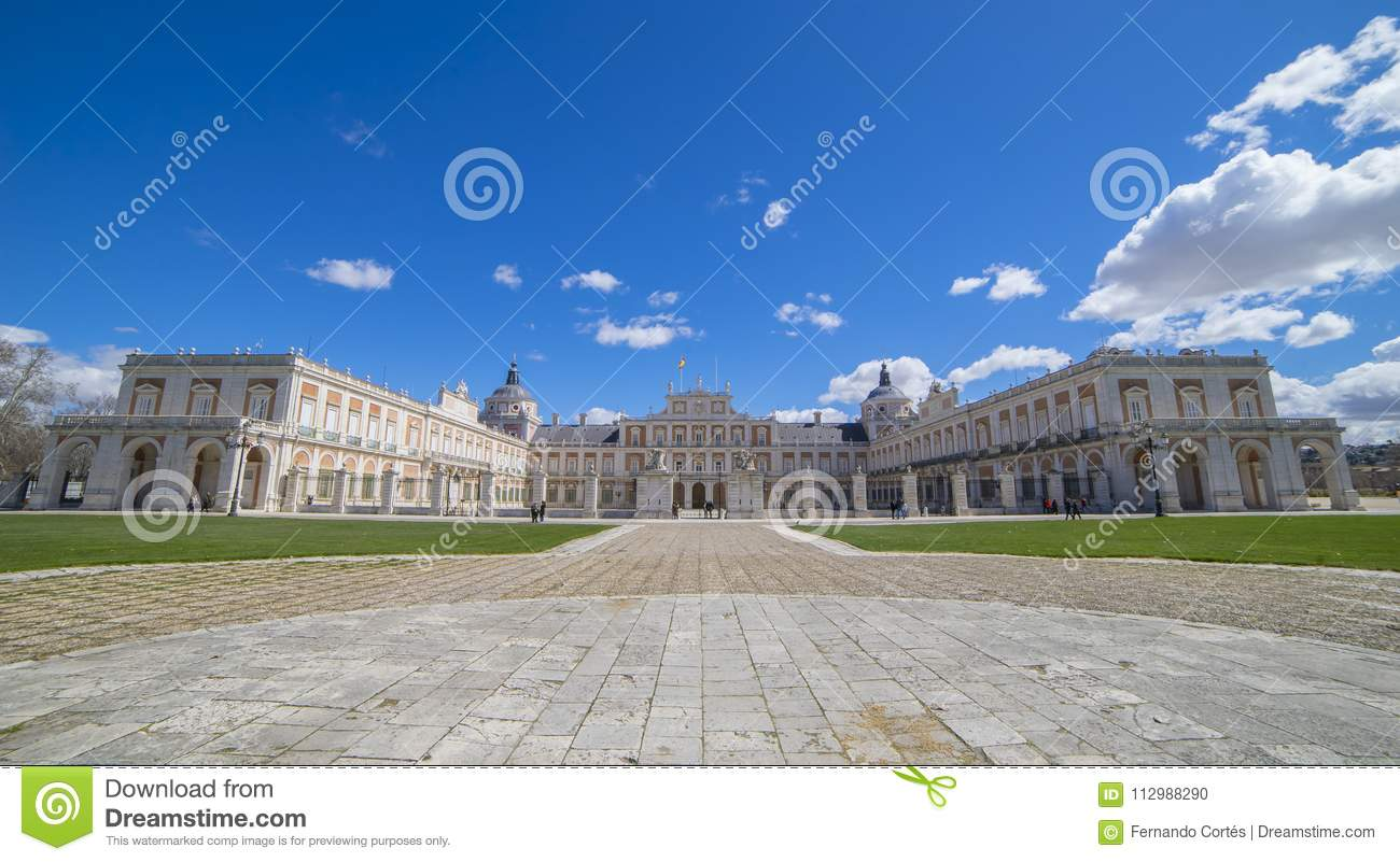 Royal Palace of Aranjuez. Community of Madrid, Spain. It is a re