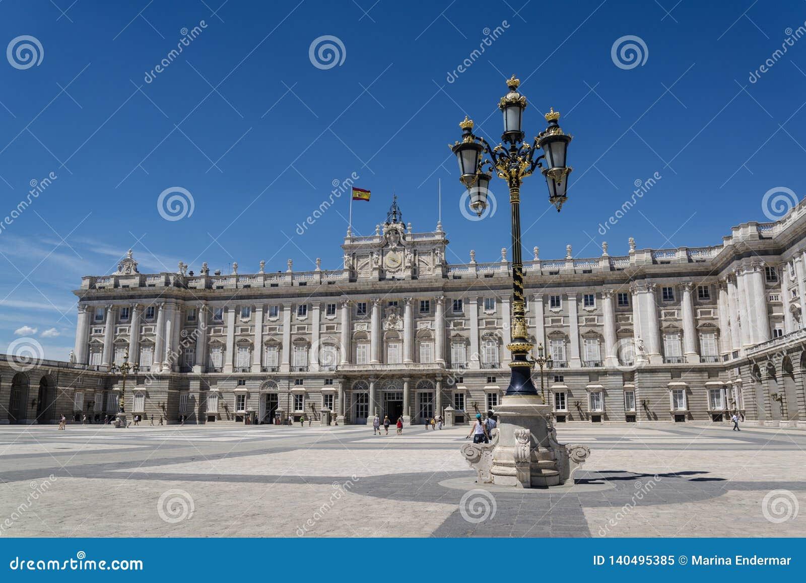 Royal Palace av Madrid, Madrid, Spanien