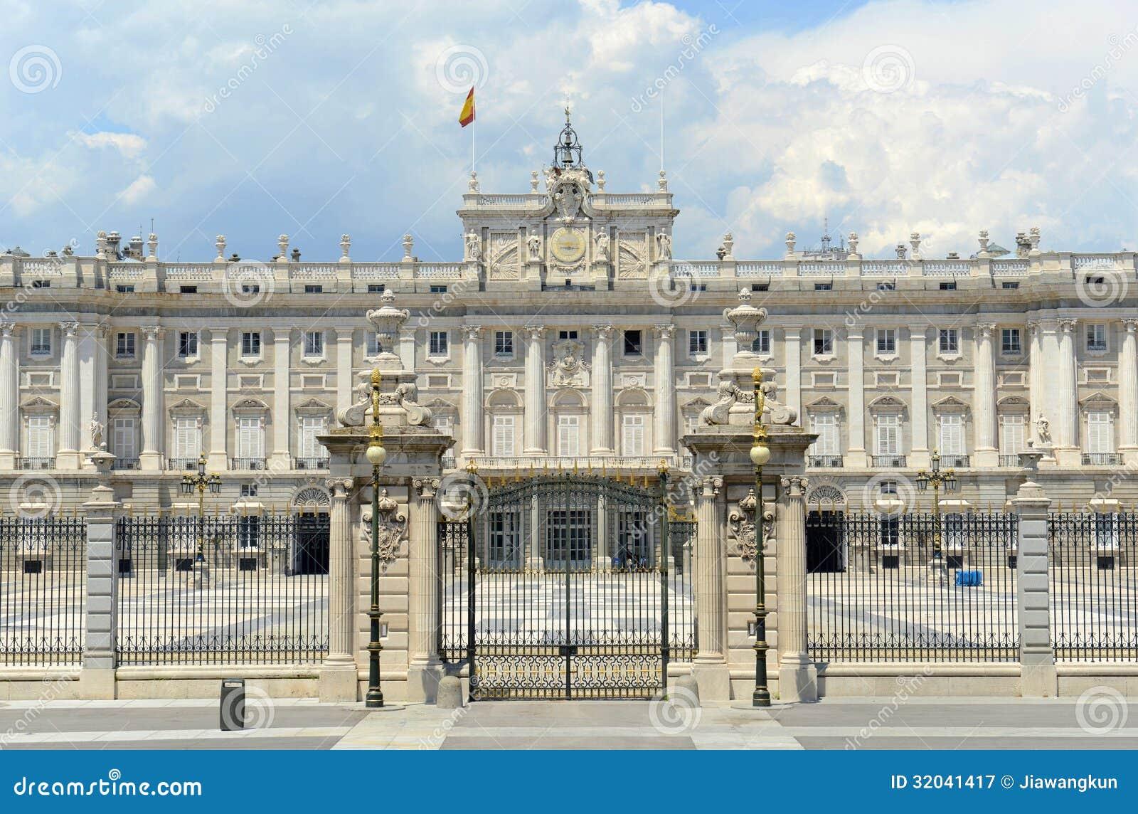 royal palace of madrid spain stock image image of politics euro