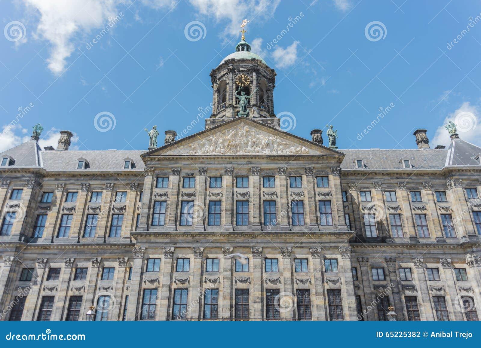 Royal Palace w Amsterdam, holandie