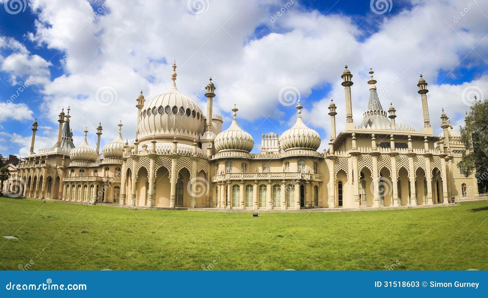 Royal Pavillion Panorama Brighton England Uk Stock Photos Image 31518603