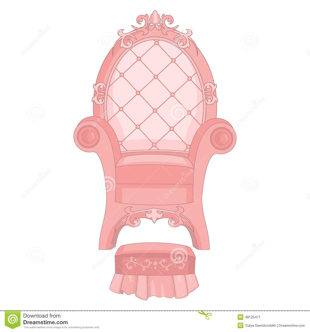 Royal Princess Throne Stock Vector Illustration Of
