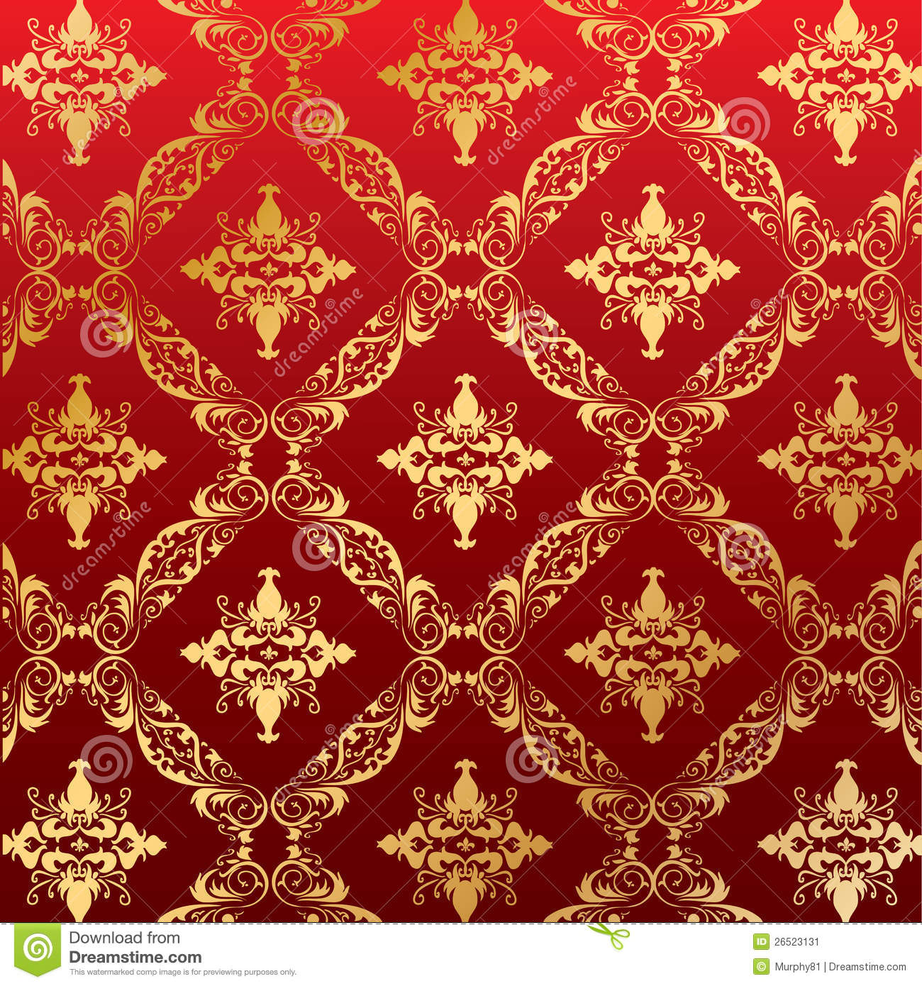 Royal Seamless Pattern Floral Wallpaper