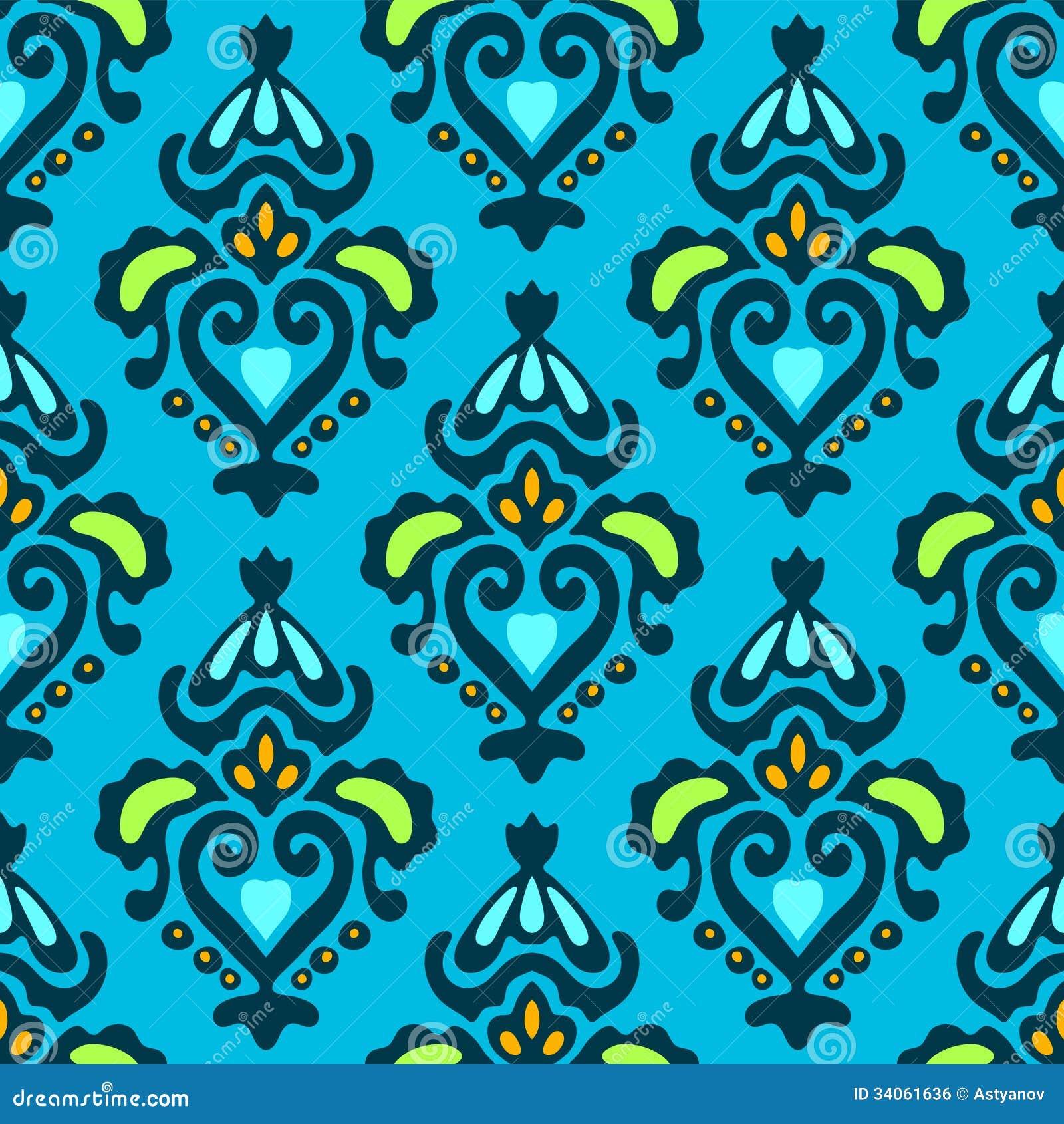 Seamless wallpaper pattern vector free