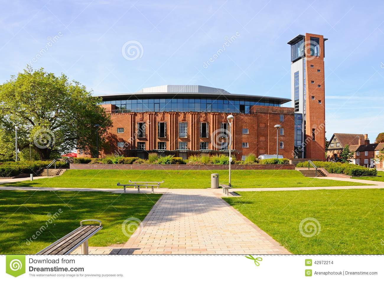 Royal shakespeare theatre stratford upon avon stock for The stratford