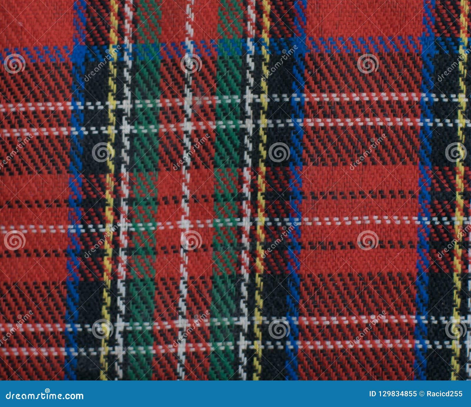 Royal Stewart Tartan. Scotland, Wallpaper. Stock Image
