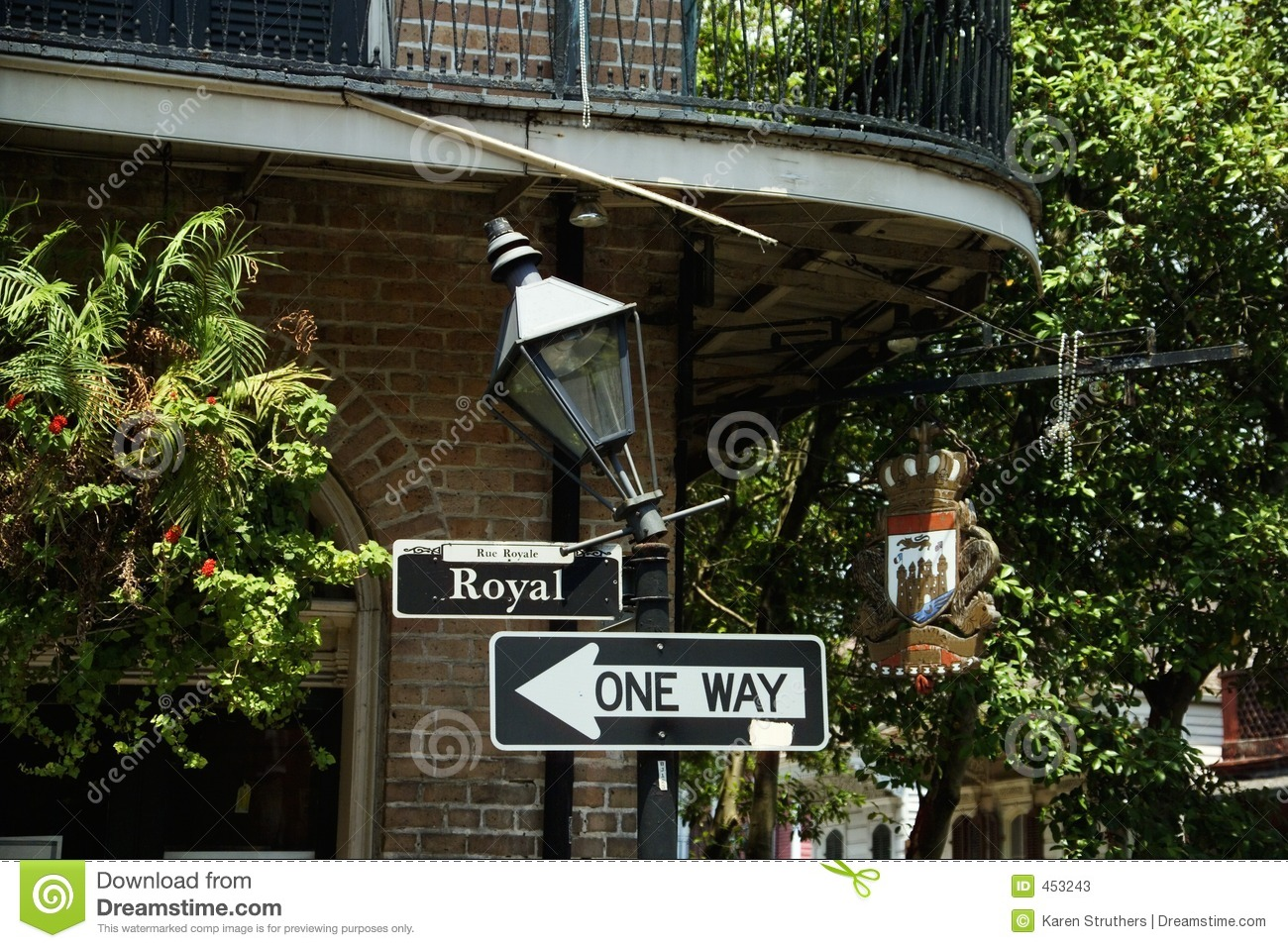 Download Royal Street Sign In New Orleans Stock Image - Image of travel, sunny: 453243