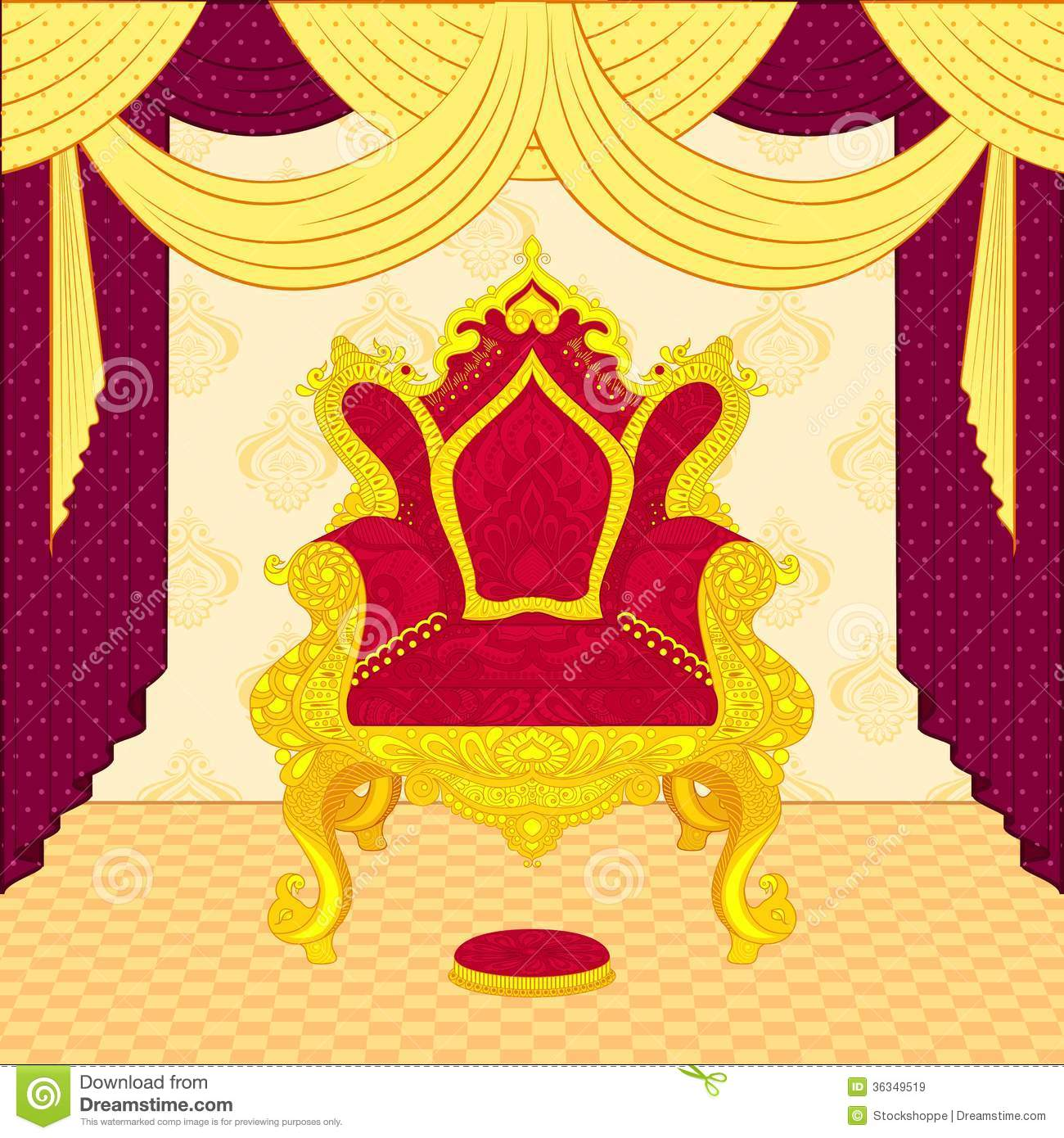 Royal Throne Royalty Free Stock Images Image 36349519