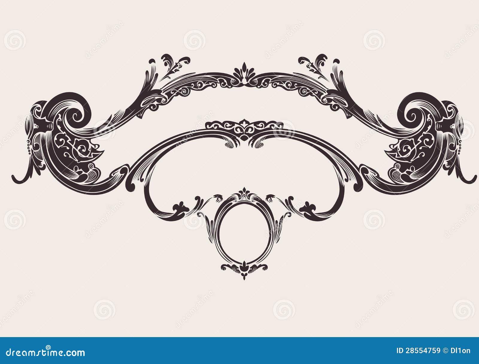 Royal Vintage Curves Banner Stock Vector Image 28554759