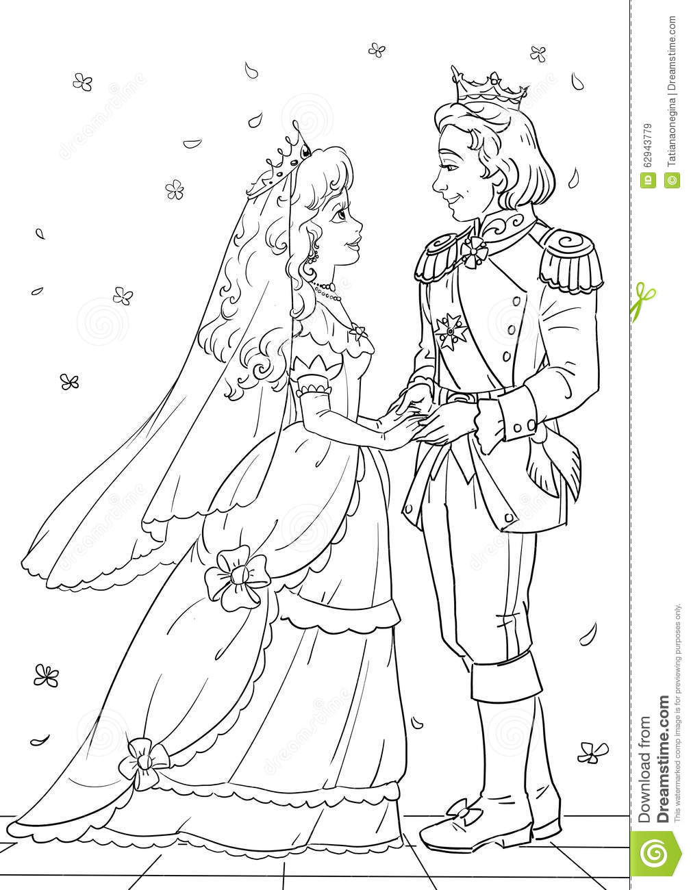 Royal wedding stock illustration