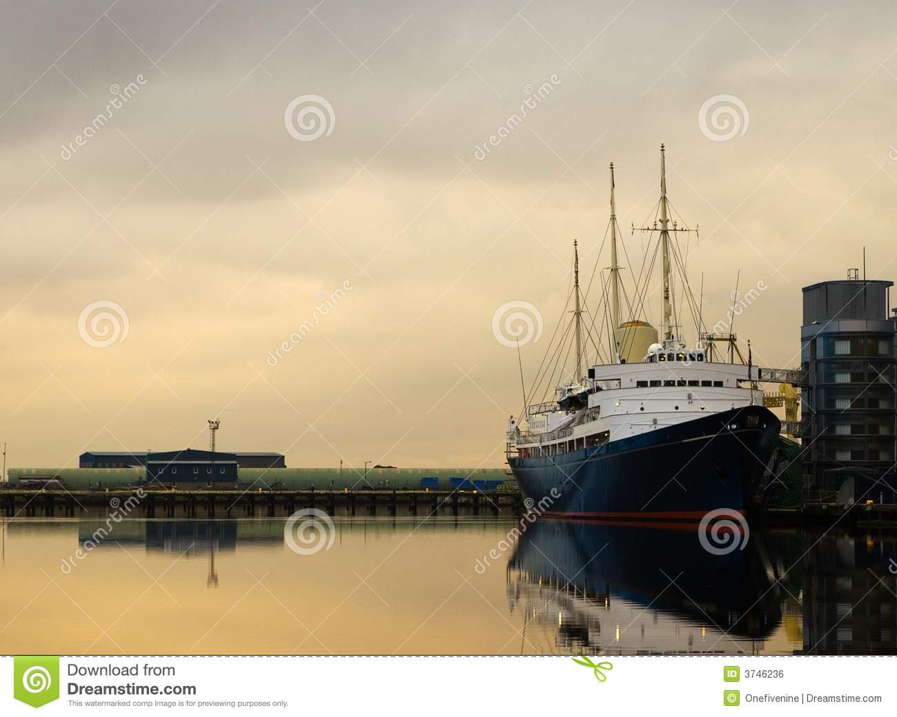 Royal Yacht Britannia Royalty Free Stock Image Image