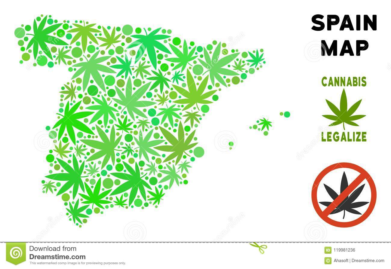 Map Of Spain Download Free.Royalty Free Marijuana Leaves Collage Spain Map Stock Vector