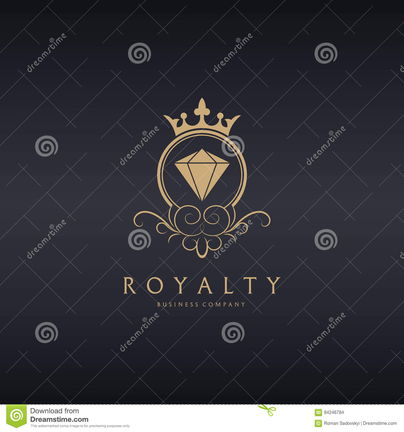 Royalty treasure stone logo stock vector illustration of company royalty treasure stone logo biocorpaavc Choice Image