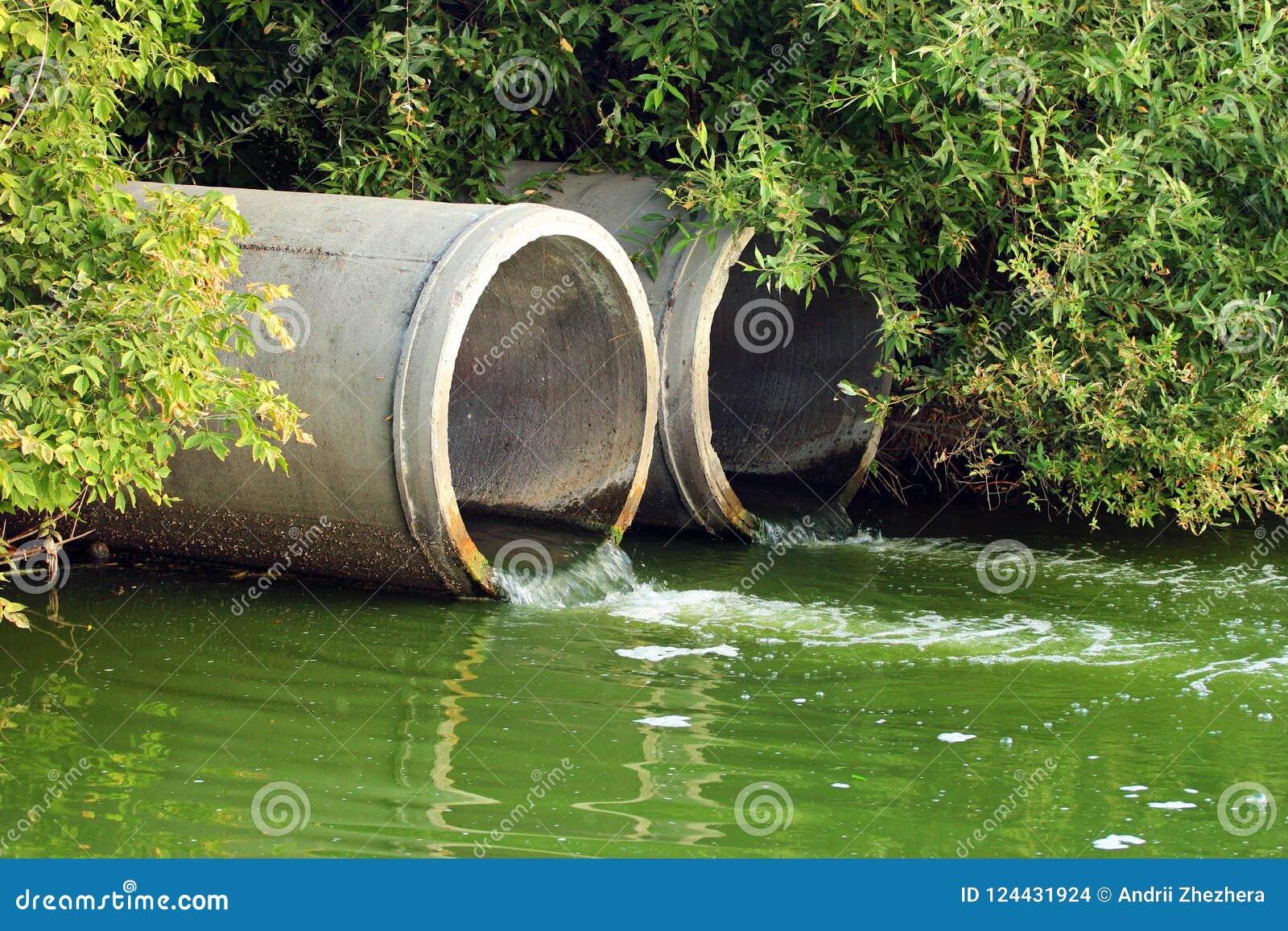 Rozładowanie ściek w rzekę