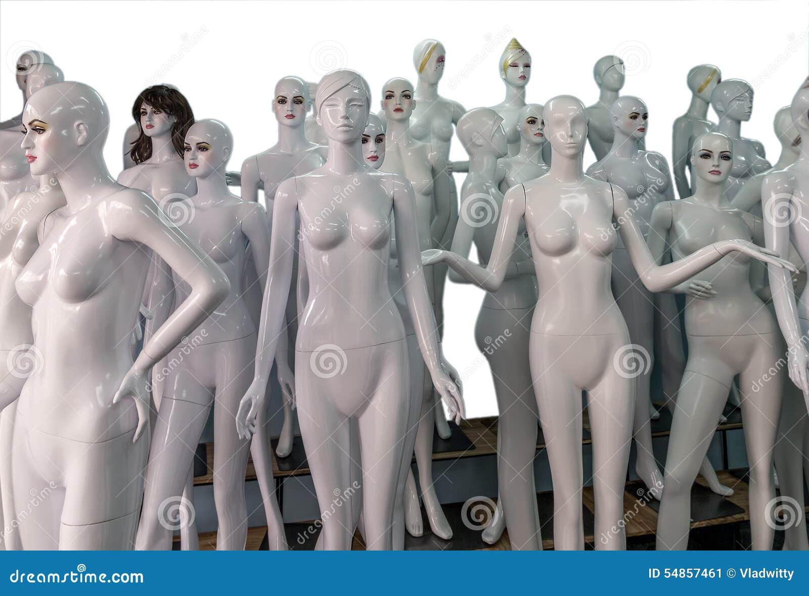 Rozbierający się mannequins