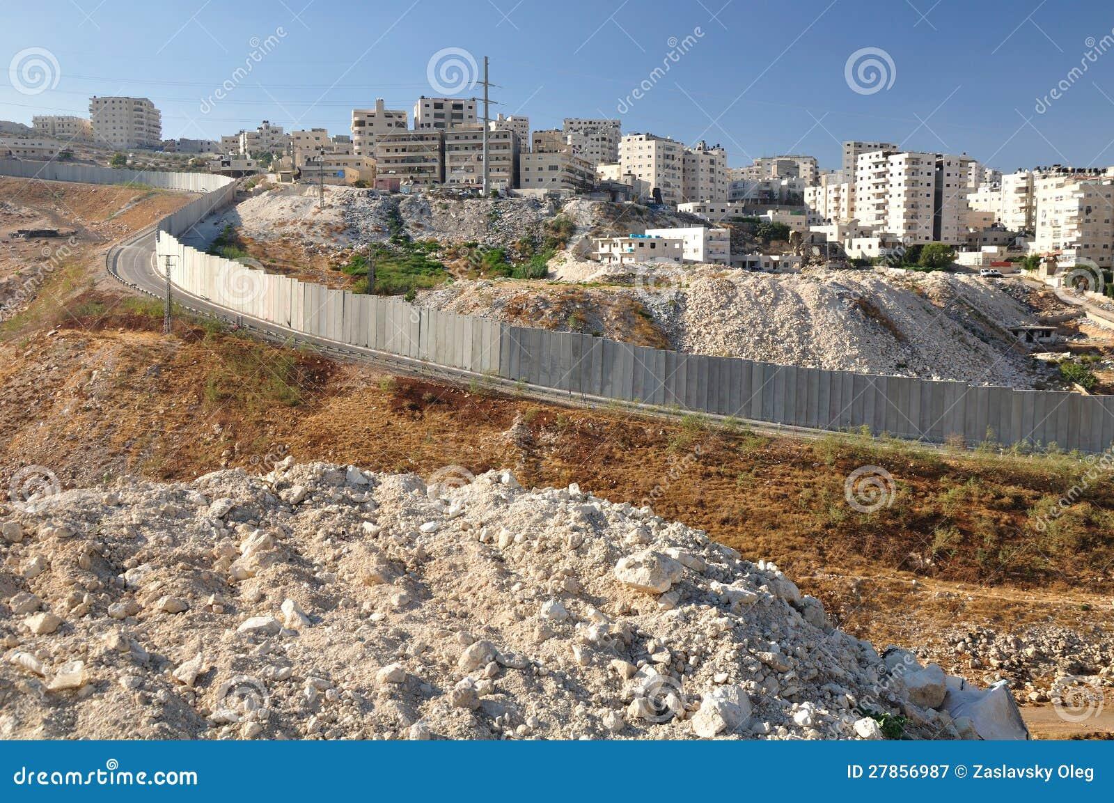 Rozdzielenie ściana. Izrael.