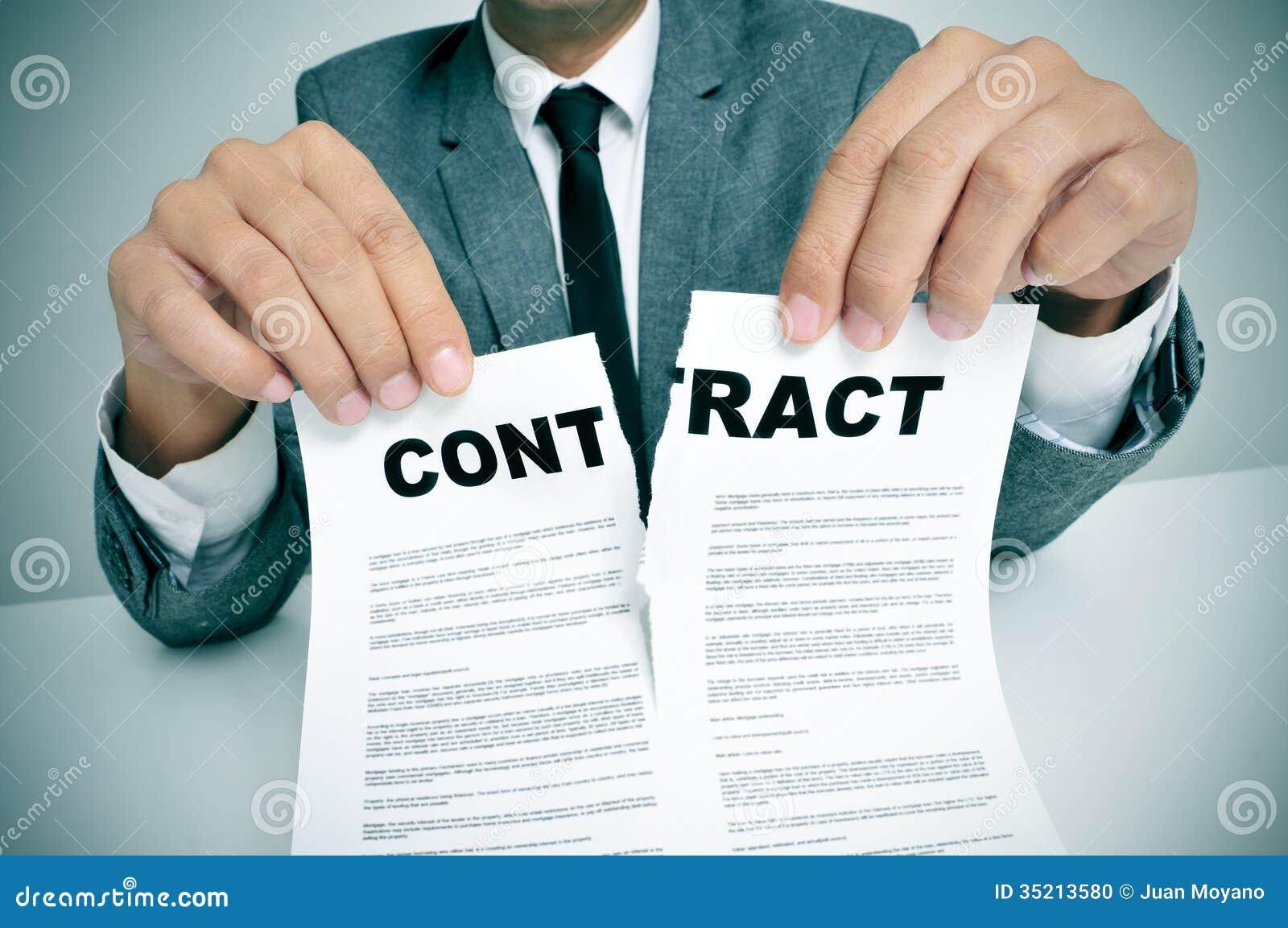 Rozdziera up kontrakt
