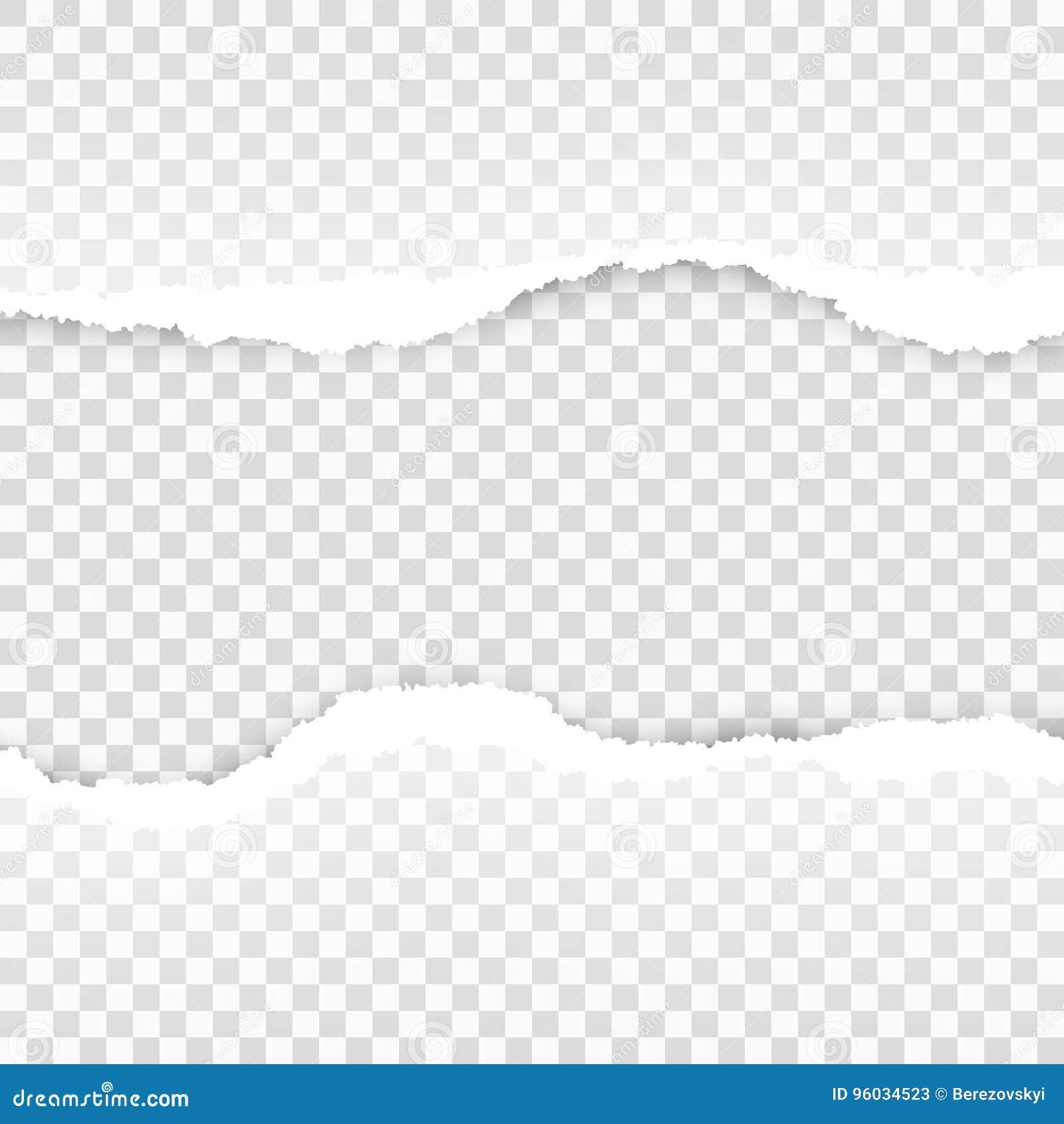 Rozdzierający papierowy przejrzysty szablon EPS 10 wektor