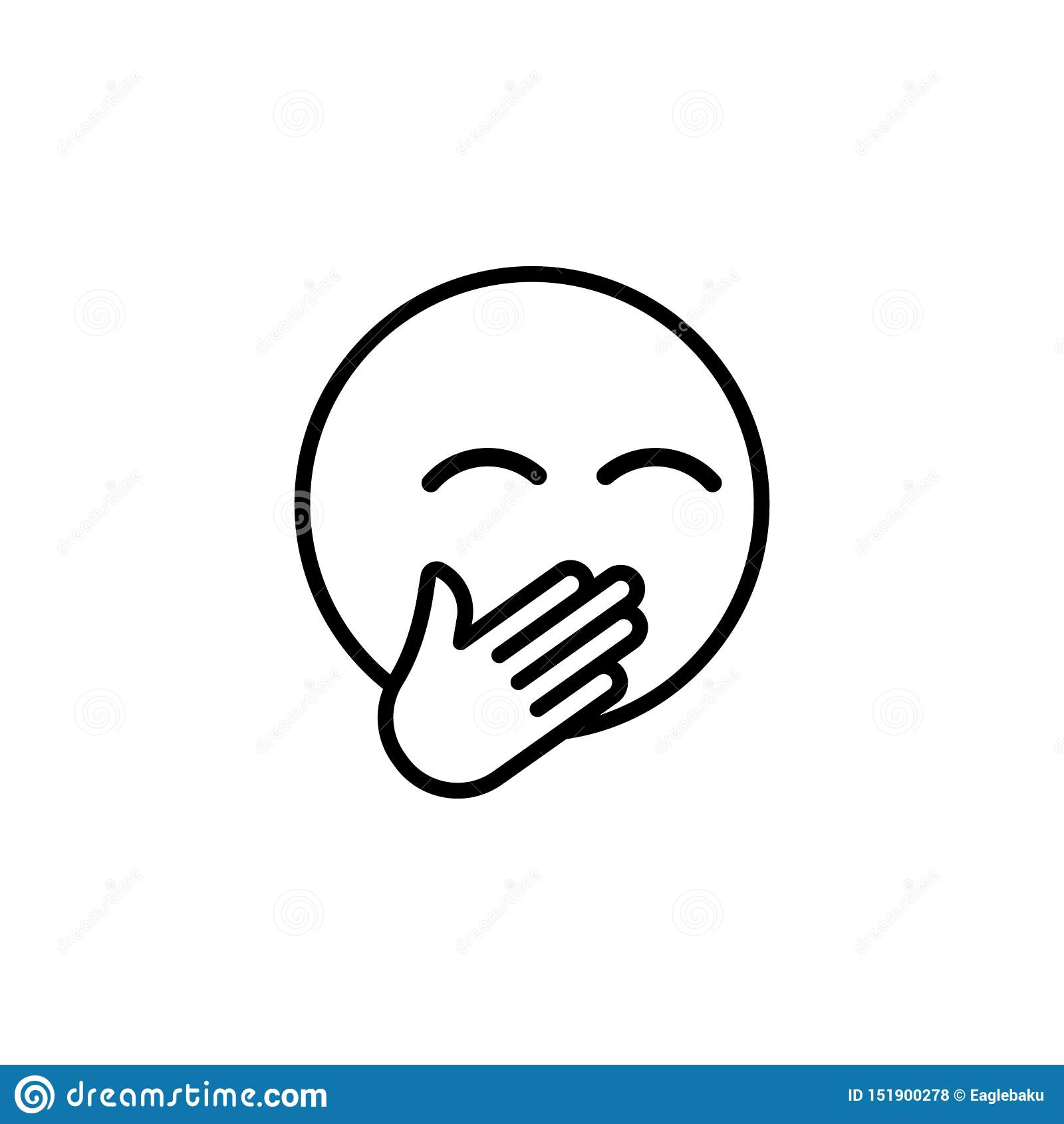 Roześmiana emoji konturu ikona Znaki i symbole mog? u?ywa? dla sieci, logo, mobilny app, UI, UX