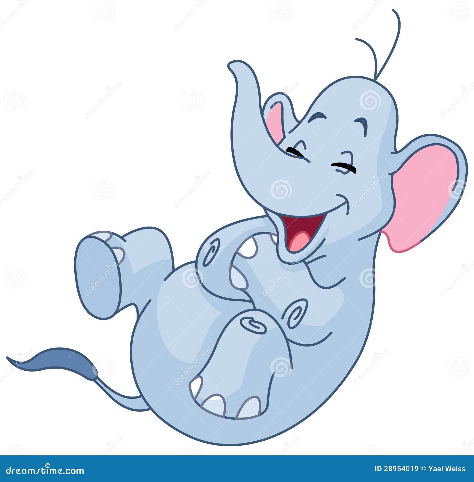 Roześmiany słoń