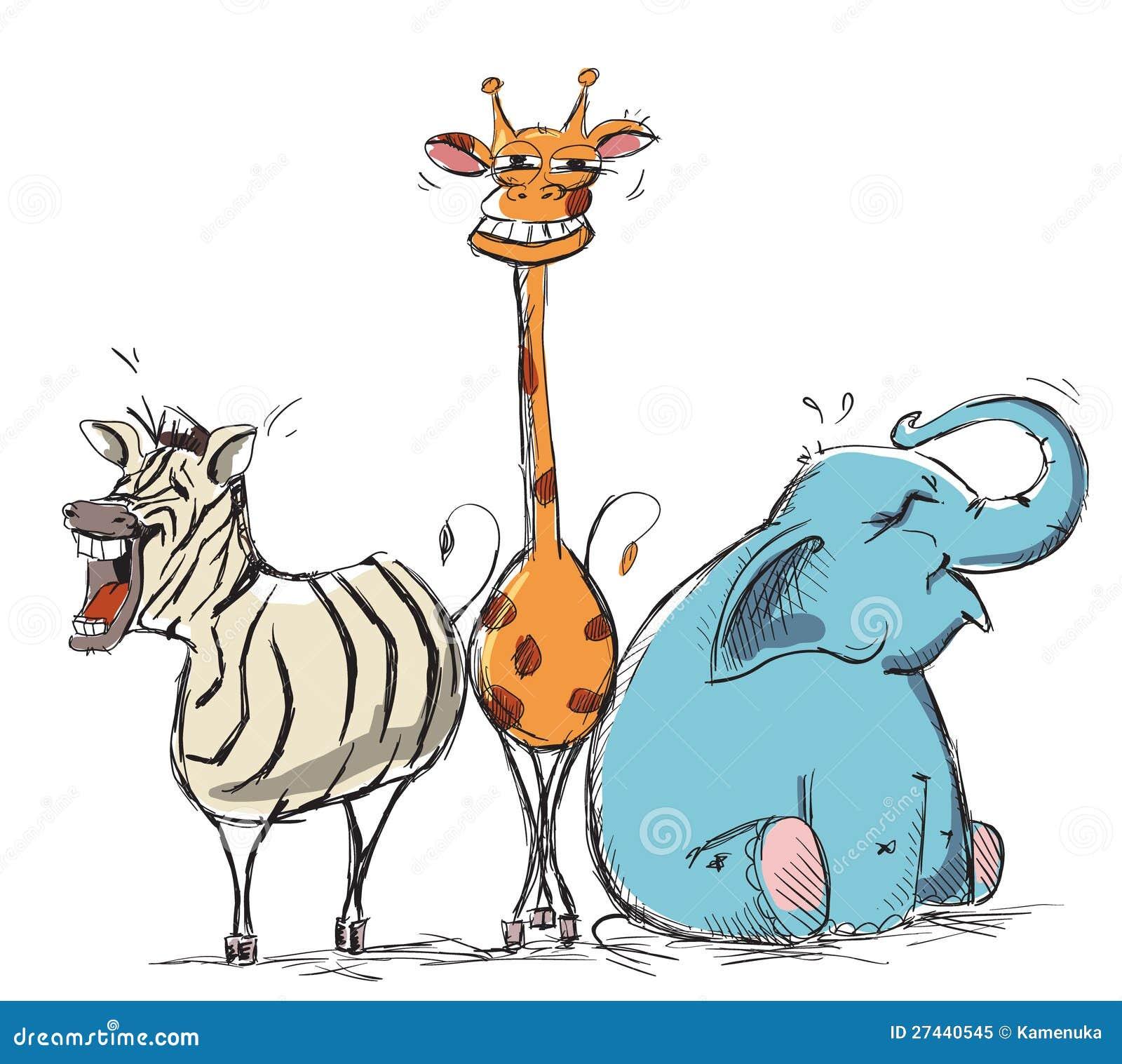 Roześmianych zwierząt wektorowa ilustracja