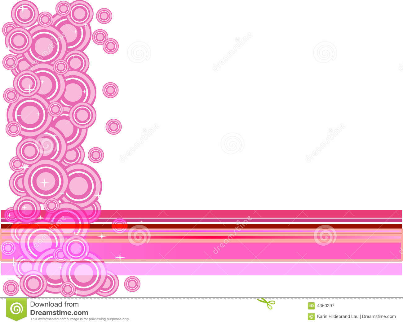 Roze Cirkels en Sterren