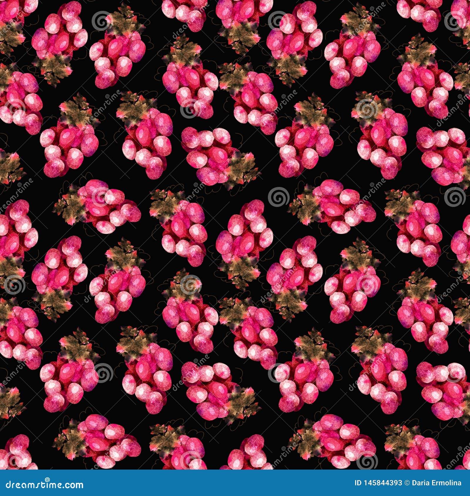 Roze druivenpatroon