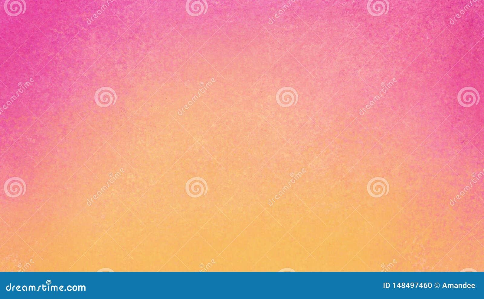 Roze en gele achtergrond met oude uitstekende textuur in kleurrijk abstract ontwerp