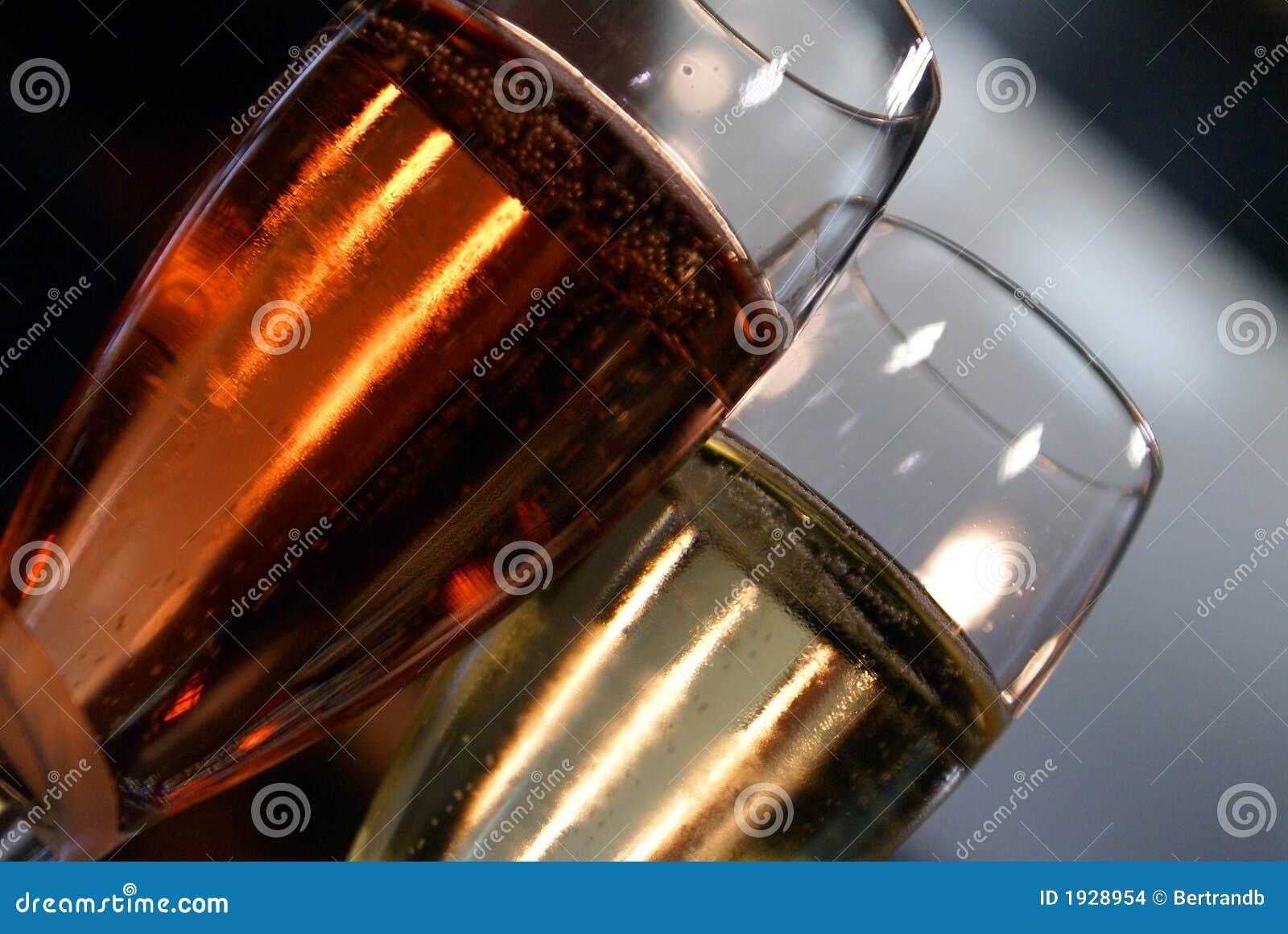 Roze en regelmatige champagne