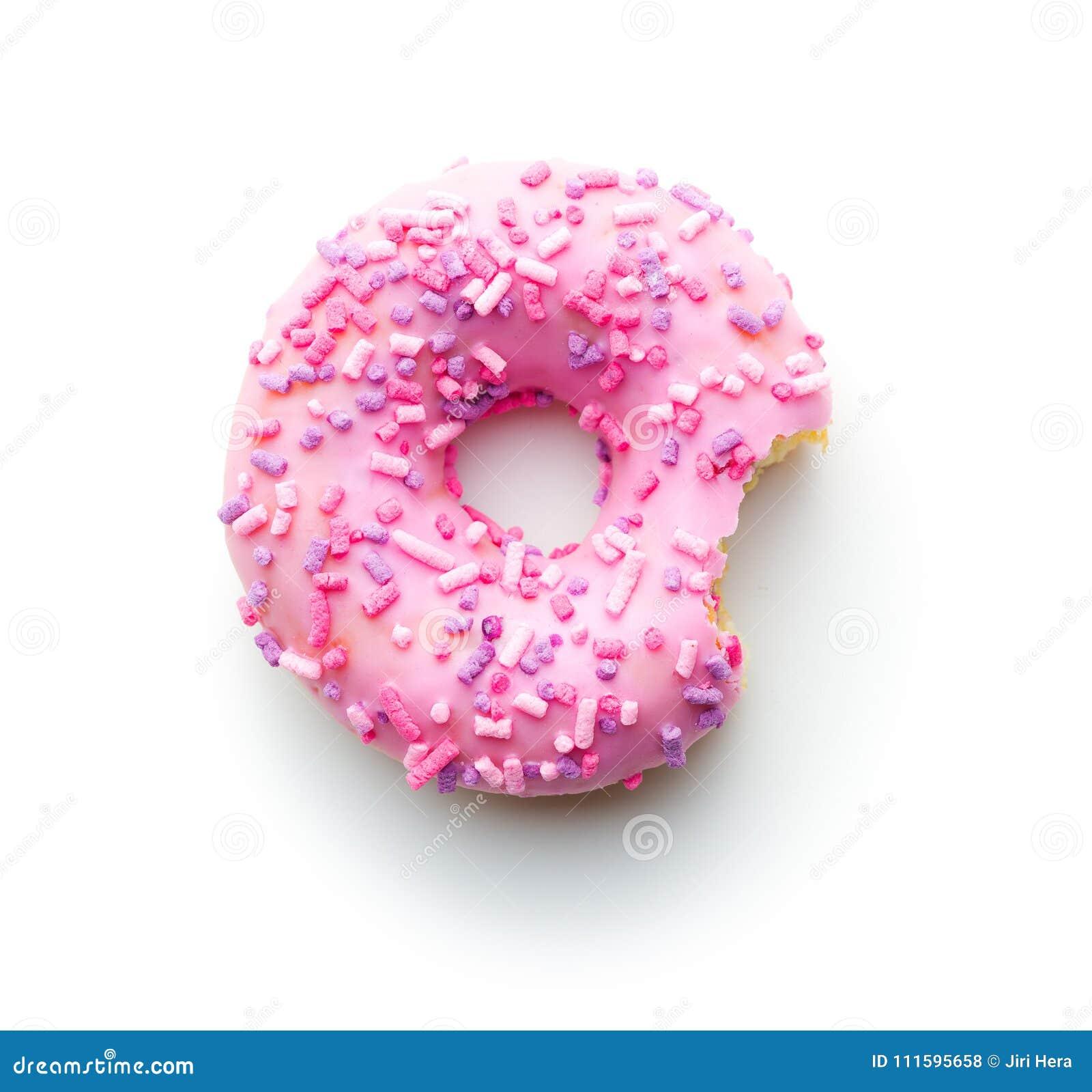 Roze gebeten doughnut