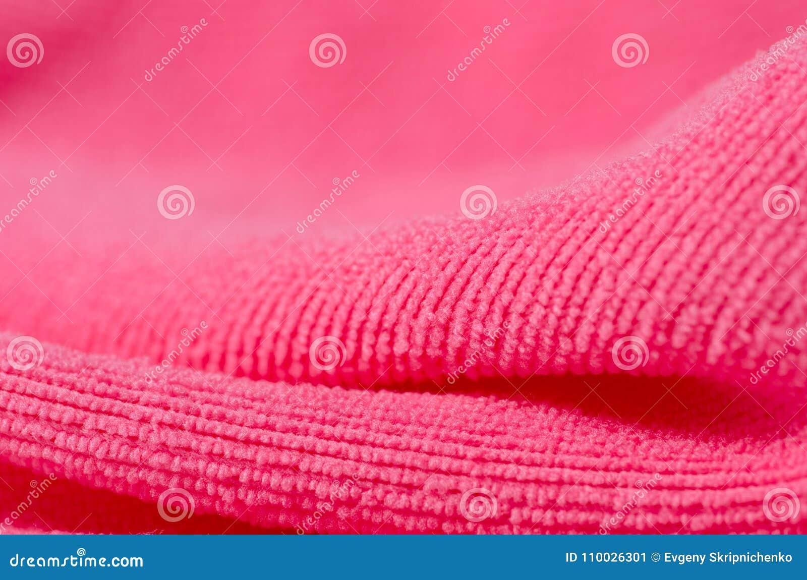 Roze handdoek microfiber macro vage achtergrond