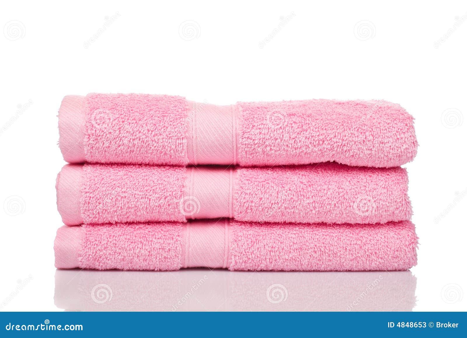 Roze handdoeken
