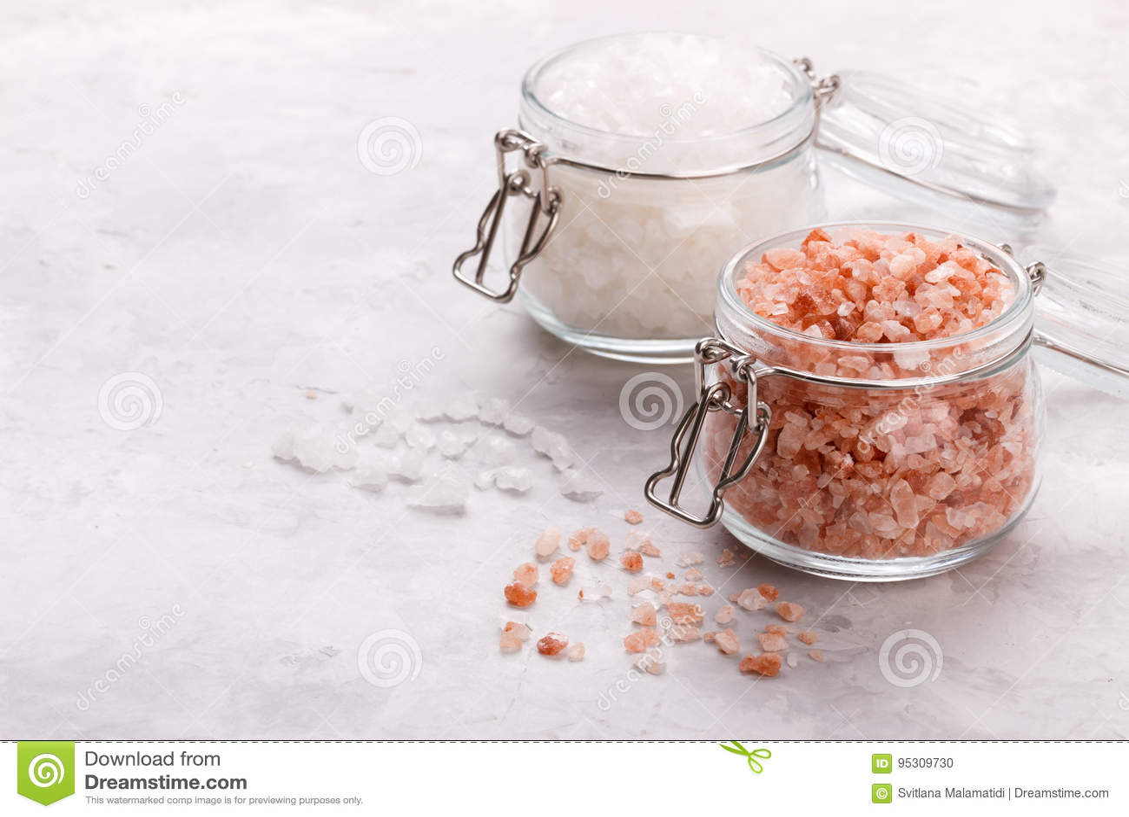 Roze himalayan zout
