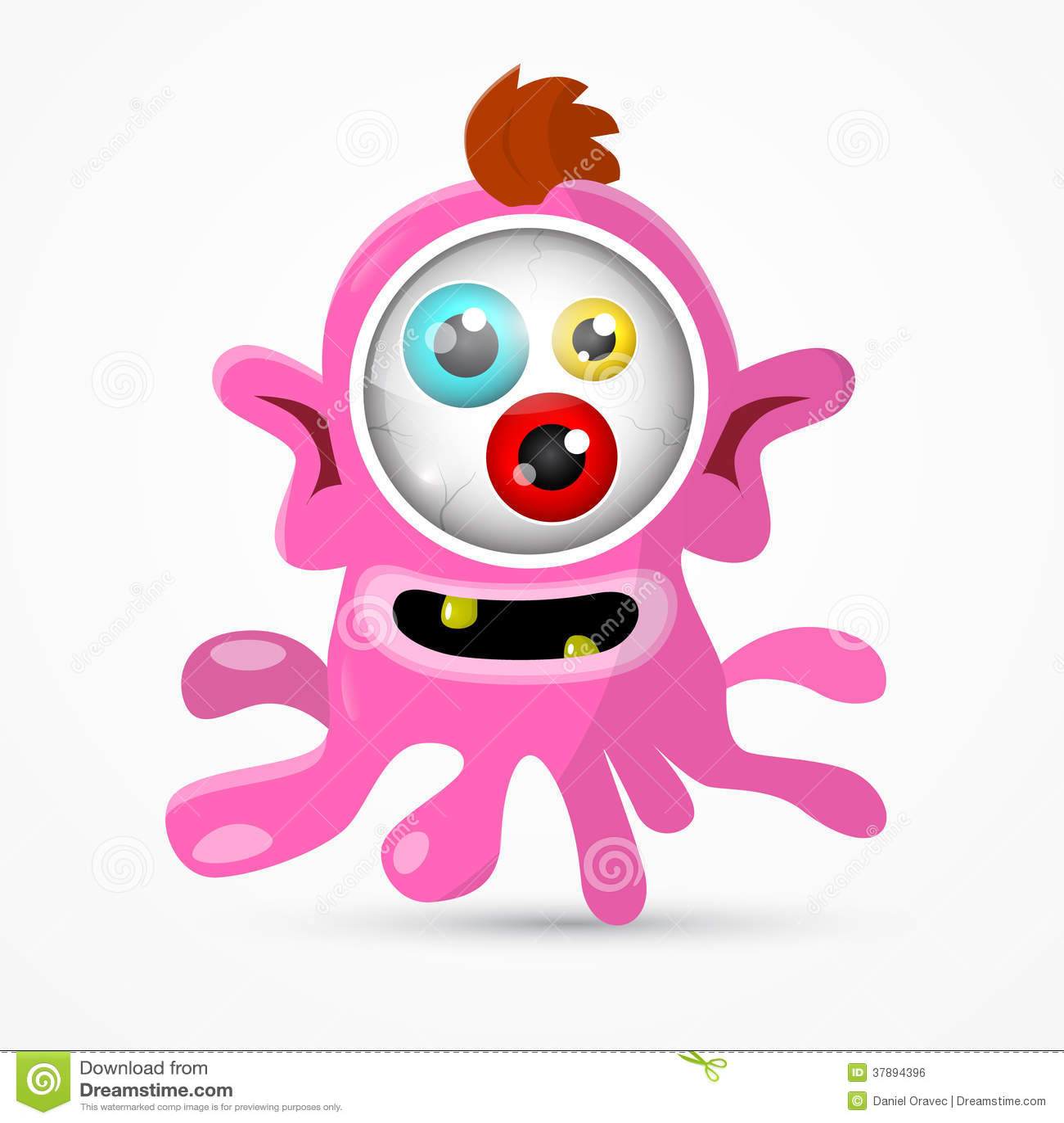 Roze Monster - Vreemde Illustratie