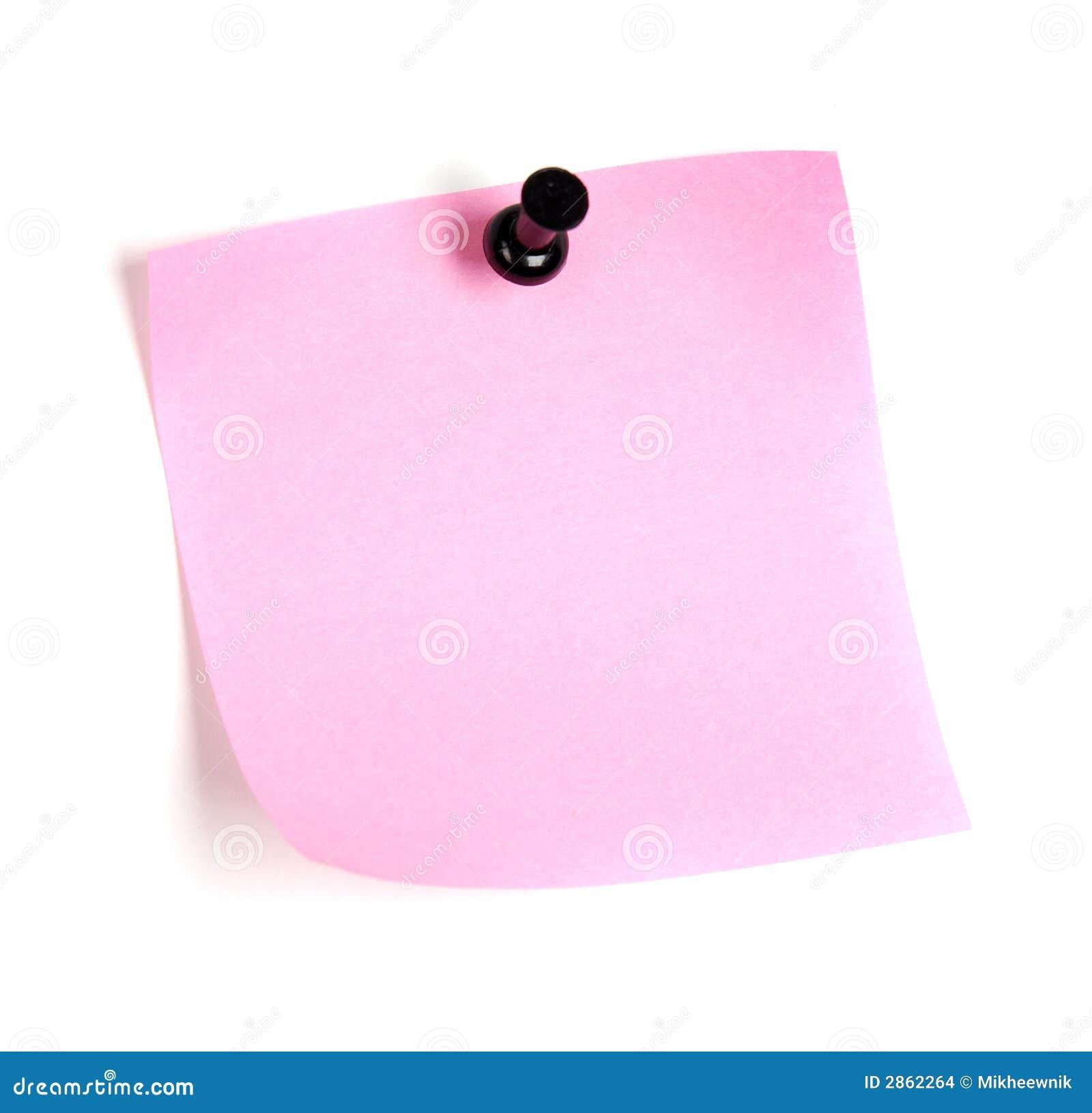 Roze post-it