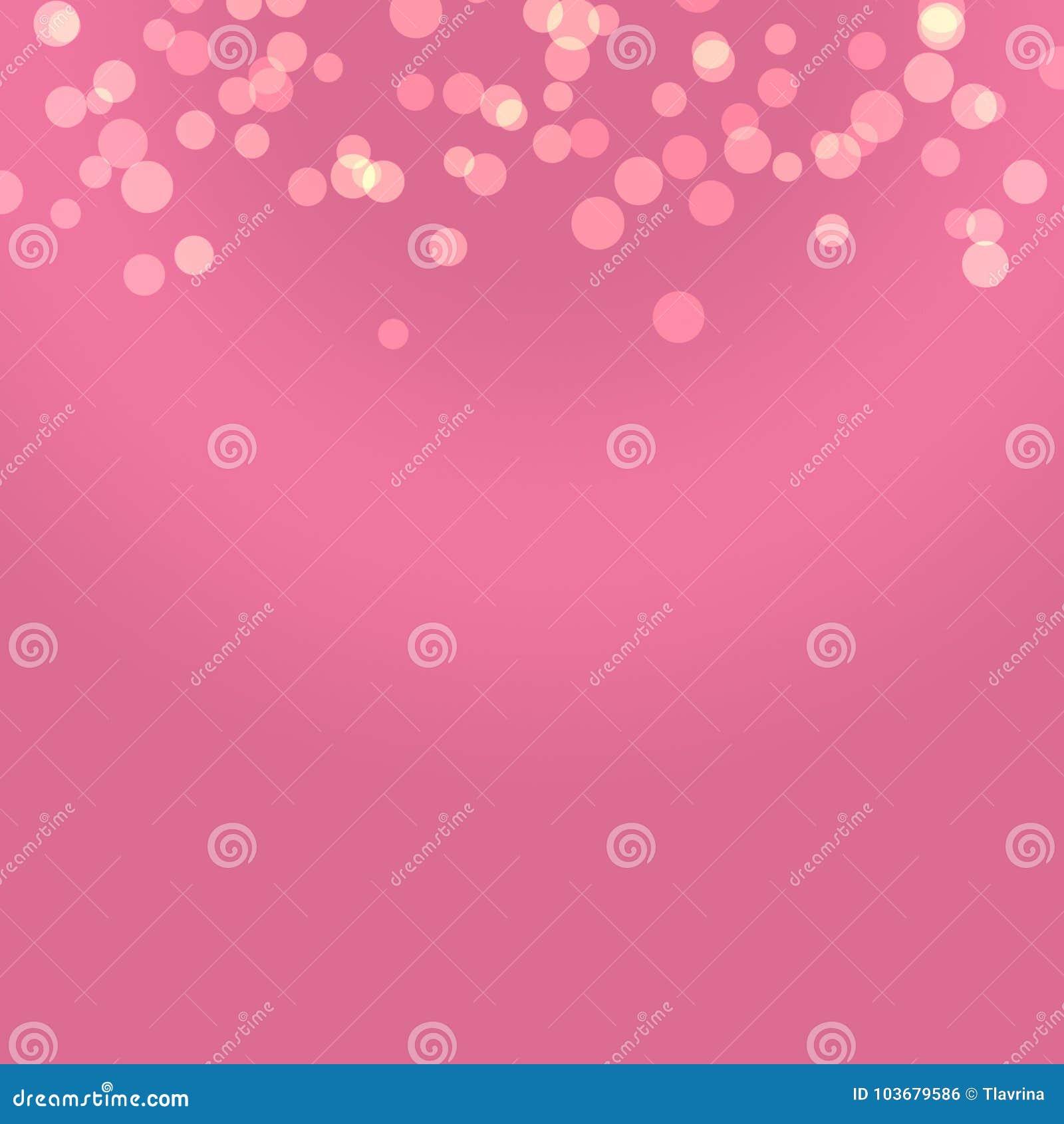 Roze Purpere Stevige Manier Gouden Vrouwen Verjaardag Bokeh Art Wallpa