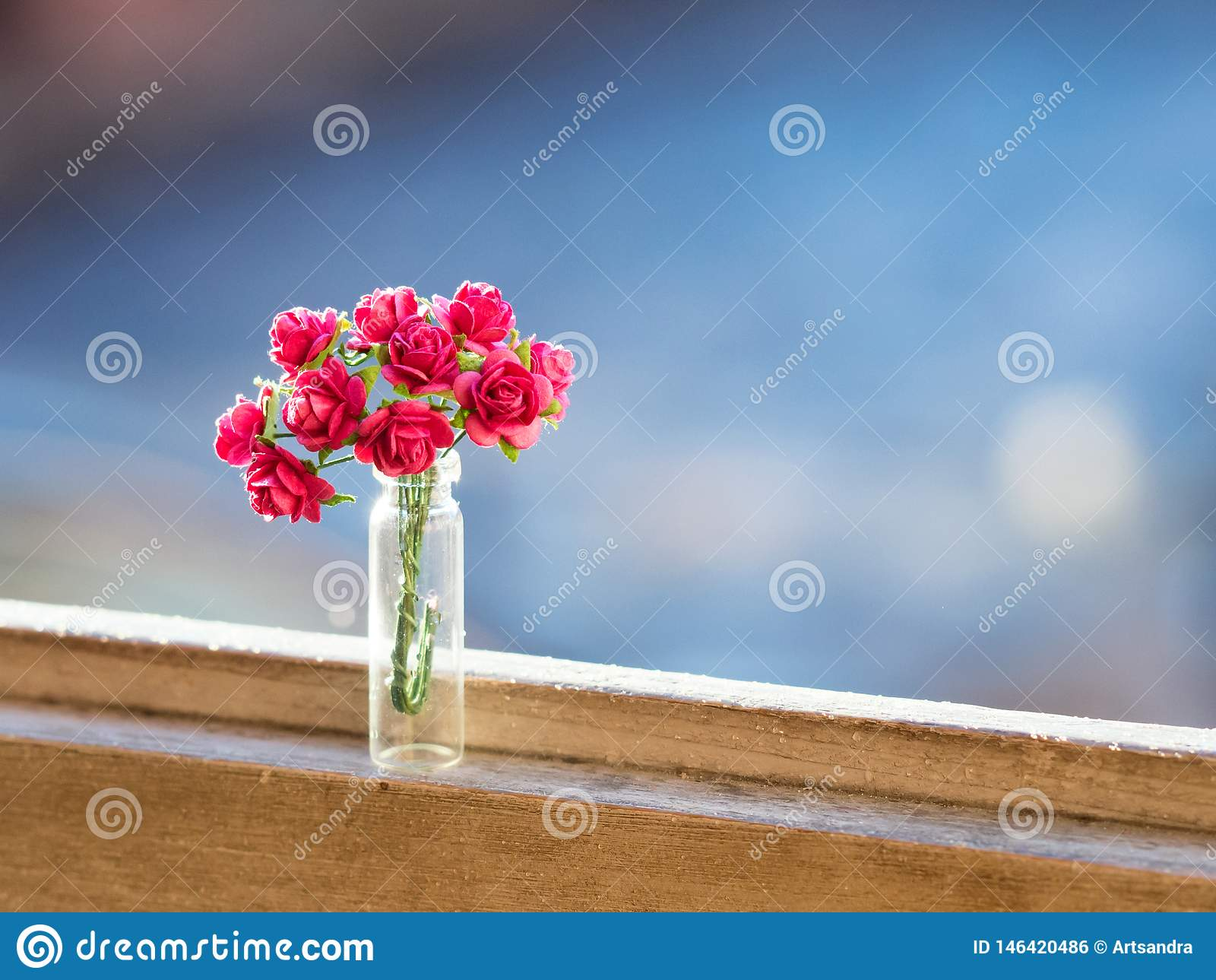 Roze rozen bloemenboeket met zachte achtergrond