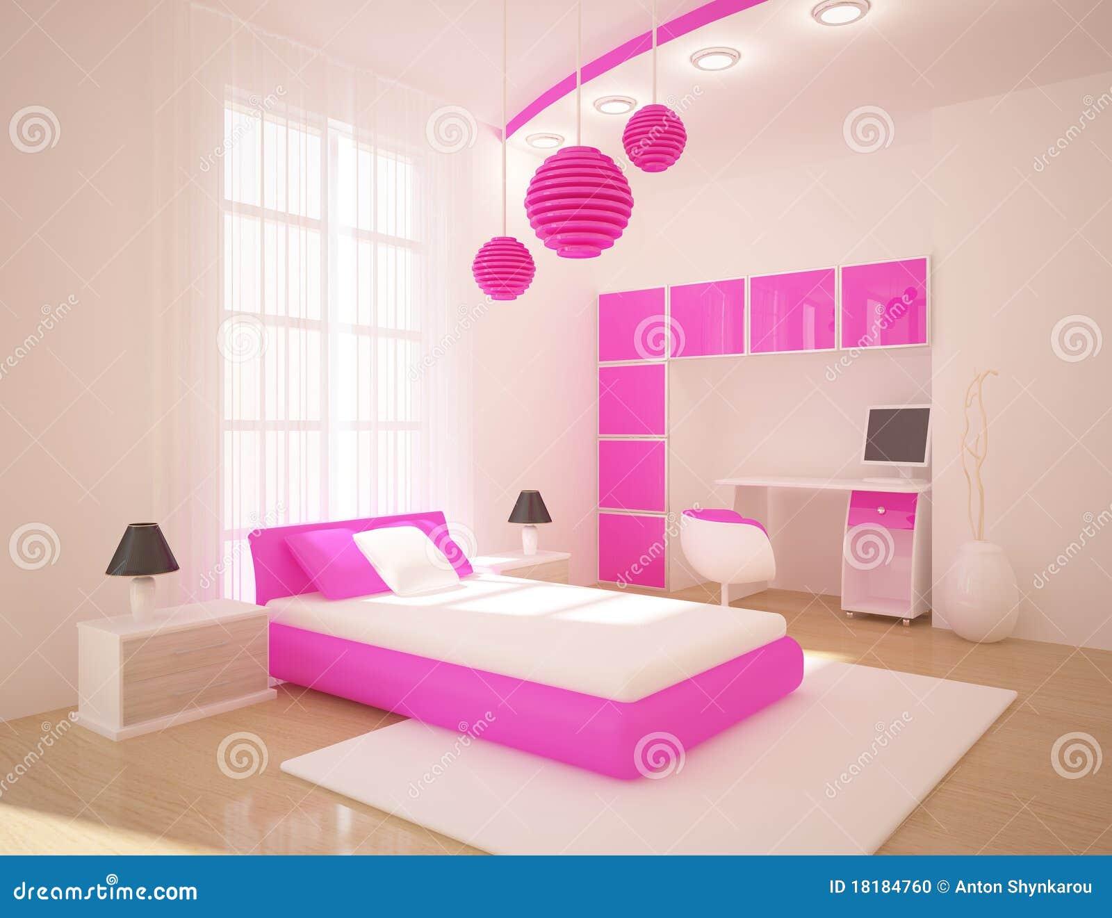 Oranje slaapkamer stock afbeeldingen   afbeelding: 15577944