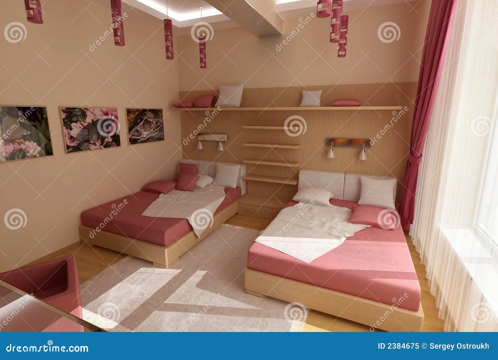 Roze slaapkamer stock afbeelding afbeelding bestaande uit parket 2384675 - Engelse stijl slaapkamer ...