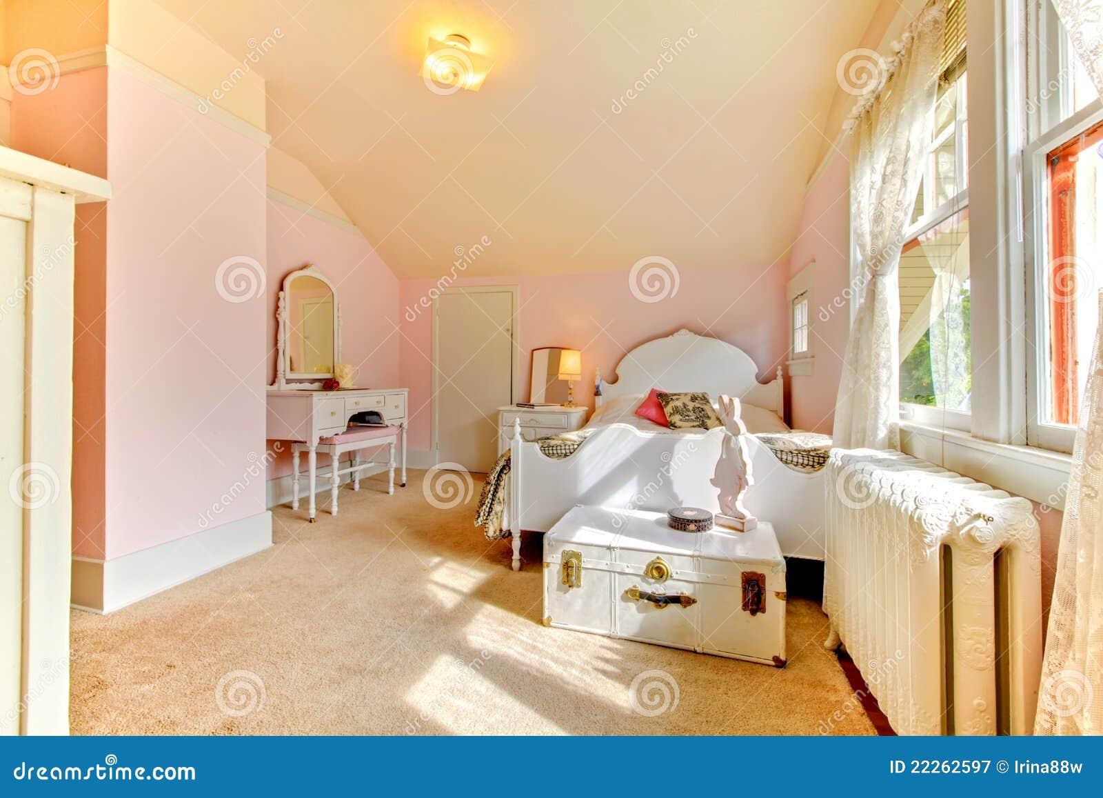 Slaapkamer Lamp Roze : Roze slaapkamer lamp roze slaapkamer met wit bed en nightstand