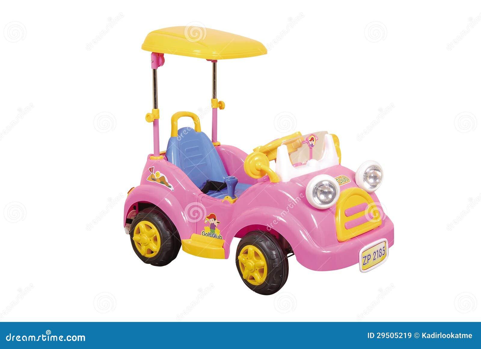 Roze stuk speelgoed auto
