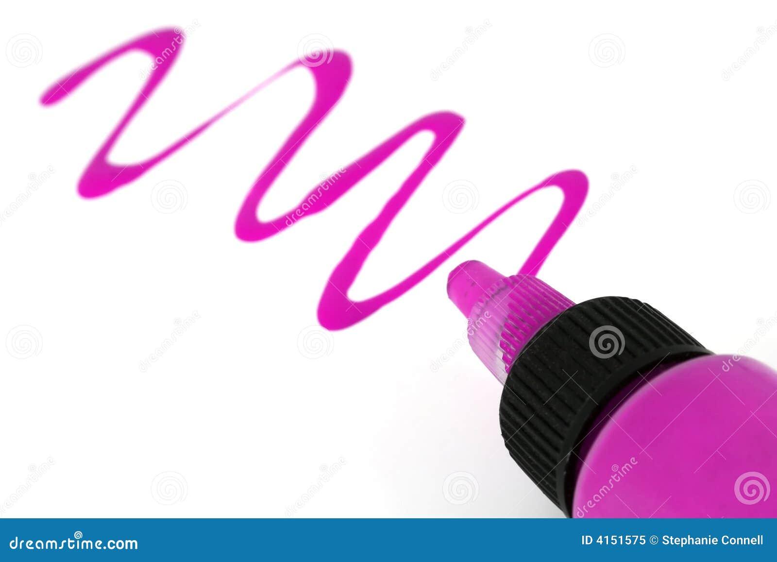Roze verf royalty vrije stock foto beeld 4151575 - Hoe roze verf ...