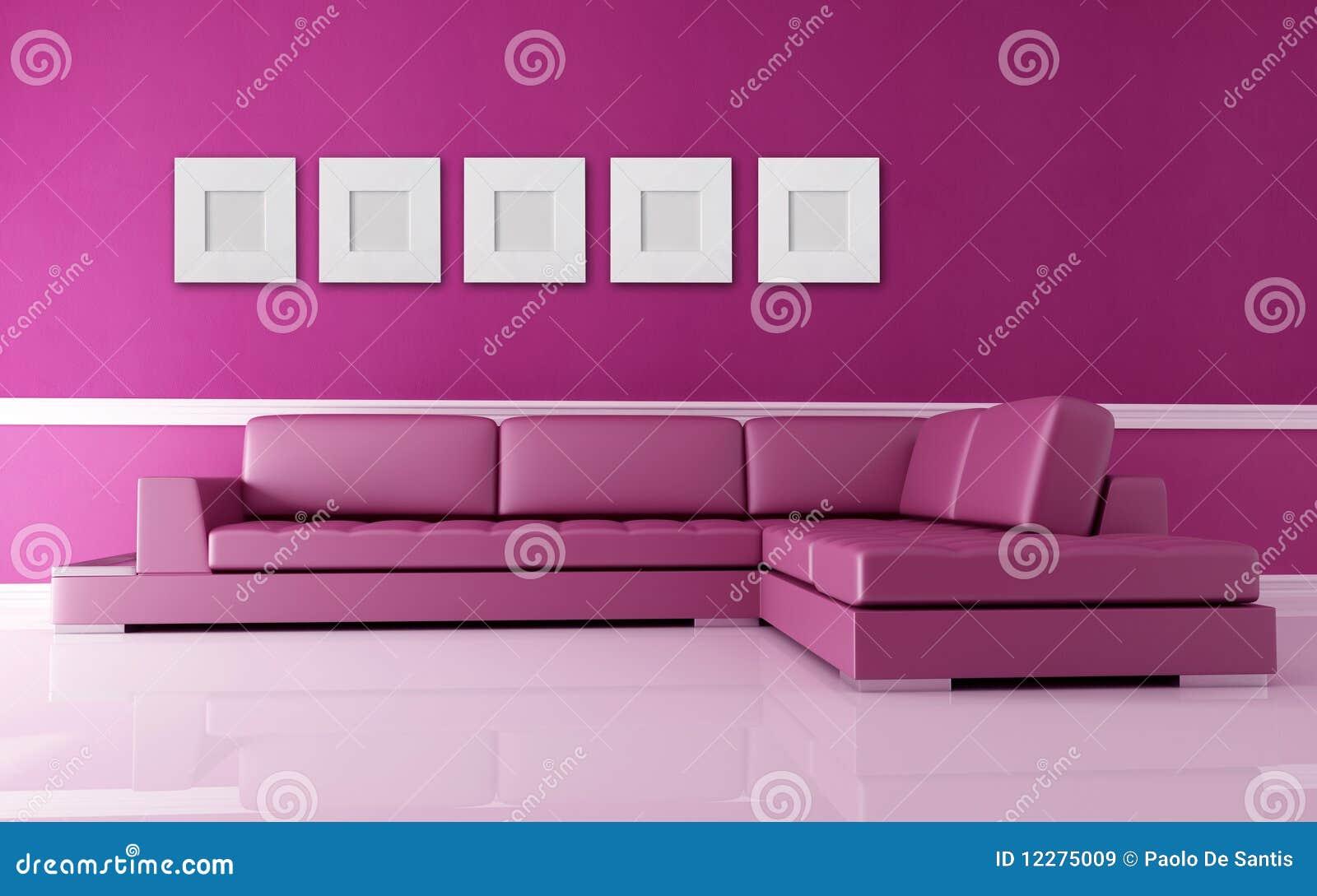Roze woonkamer stock illustratie. Illustratie bestaande uit metaal ...